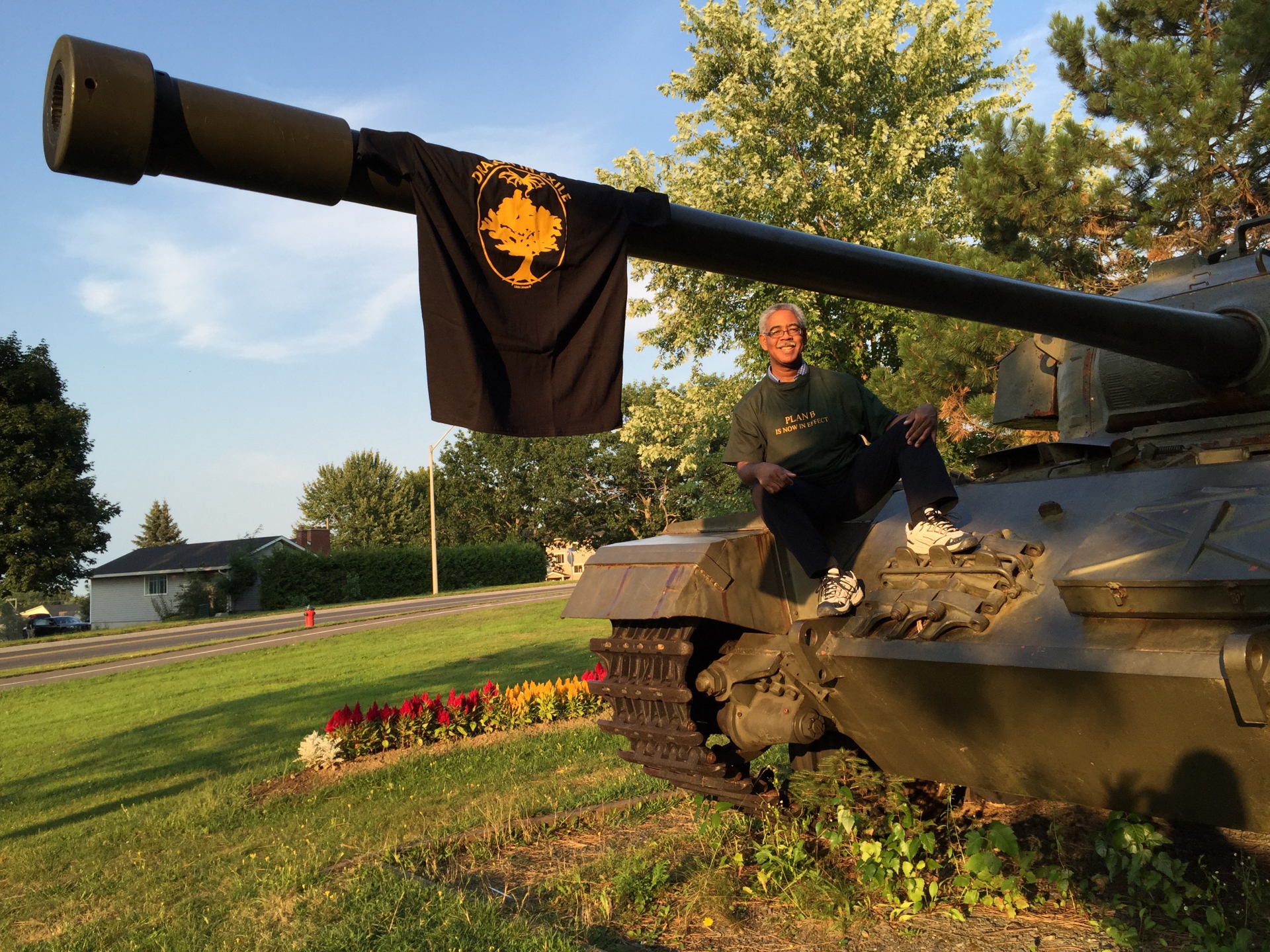 """Brian Davis: Relaxing Like A Delm With Centurian Tank €�ironsides"""" While  Showing The"""