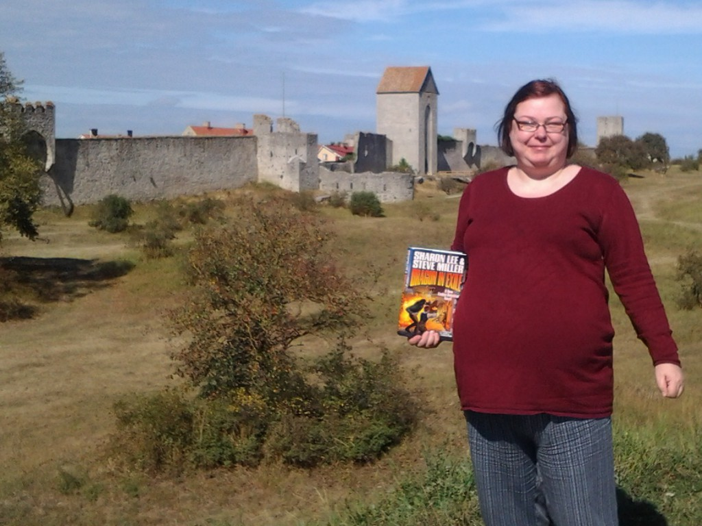 Eva Norman:  I´m doing it like a Delm at World Heretage Site: Visby Town on the Island of Gotland, Sweden. Photo talken from the Eastern Moat.