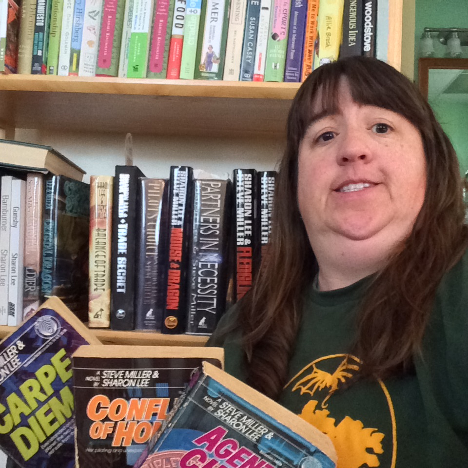 Kate Reynolds: Showing off the classic shirt, along with original and recent books.